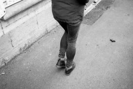Wife, walking in Bavay