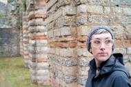 Wife. Roman ruins in Bavay, France