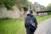 Wife @ ruined castle outside of Brussels